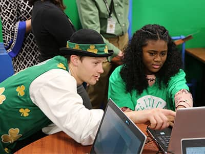 Celtics Lucky with Students in Tech Lab