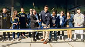 Ribbon cutting ceremony for Penmen Stadium Opening