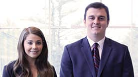 Two SNHU students in the sales program