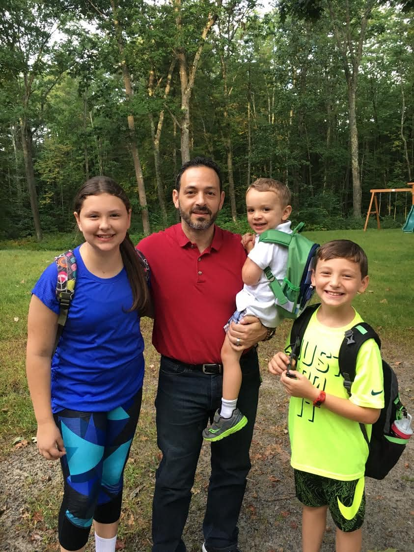 Steve Zanella and his children, Lili, Noah and Camden