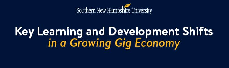 SNHU Logo with text: Learning and Development Shifts in the Gig Economy