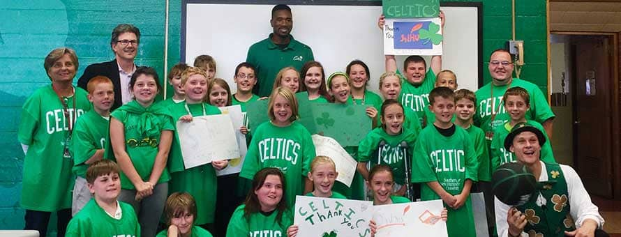 Celtics partner with young students