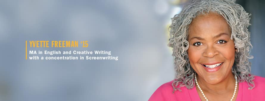 An online creative writing degree helped OITNB actress Yvette Freeman further her passion for writing.