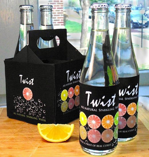 Twist Sparkling Water Packaging Design