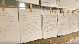 "20,000 anonymous ""journal entries"" displayed as part of The Strangers Project"
