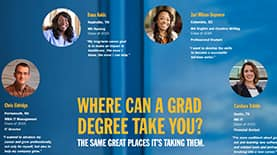 Where Will a Grad Degree Take You Infographic